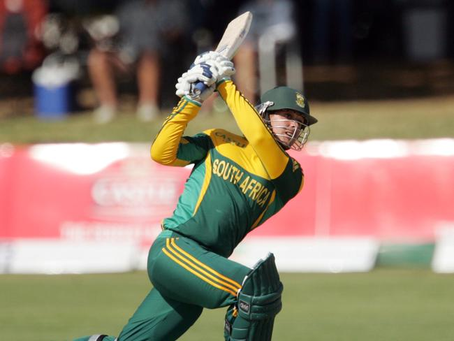 Man of the match ... South Africa's batsman Quinton de Kock in action.