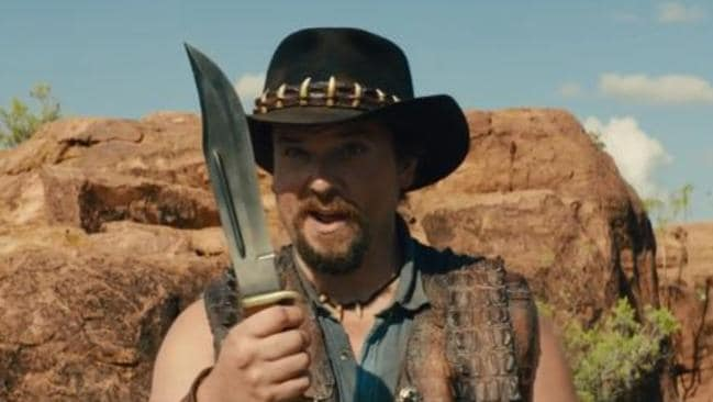 'That's a knife' ... Danny McBride is set to star as Mick Dundee's son.