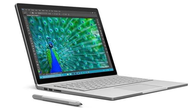 First laptop ... Microsoft created and released its first laptop computer this year, the Surface Book.