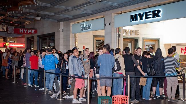 Myer opened for trading at 5am for their annual Boxing Day Sale in Sydney. Picture: Steve Harris