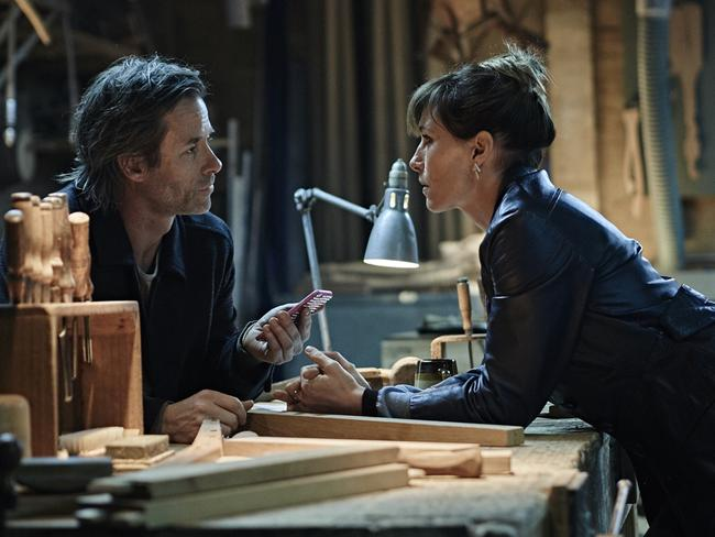 Pearce reunites with Claudia Karvan yet again in the series Jack Irish. Picture: Supplied / ABC