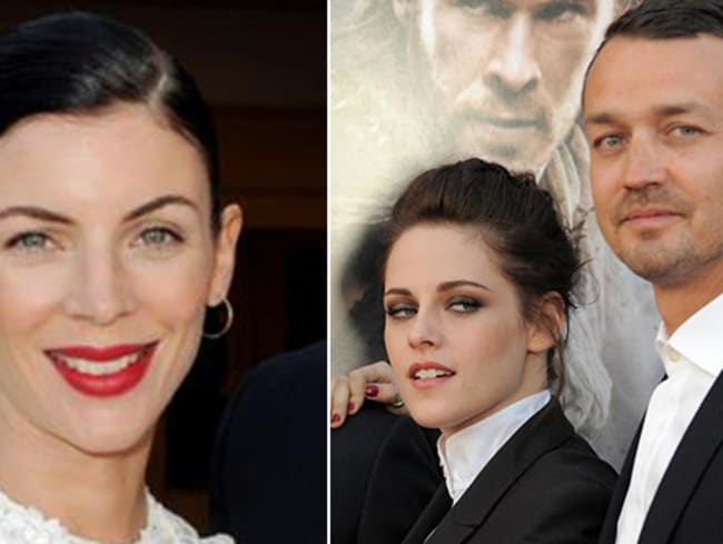 Love triangle ... Liberty Ross, left, and Kristen Stewart and Rupert Sanders.
