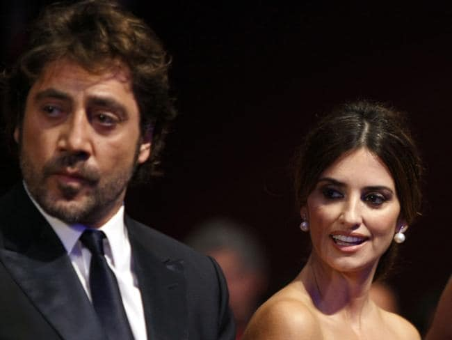 Protesting ... Javier Bardem and Penelope Cruz have denounced Israel's attack on Gaza. Picture: AP P
