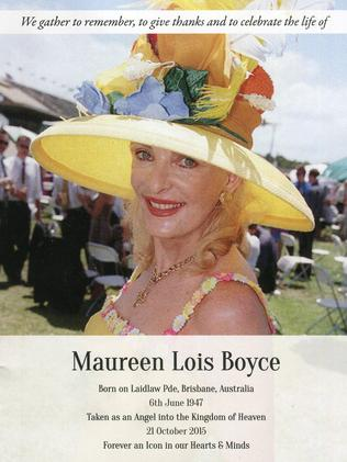 The church service book for Maureen Boyce.