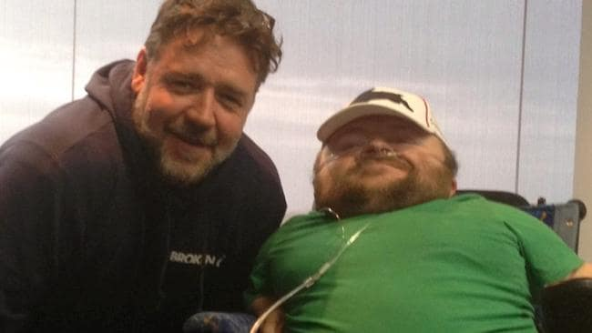 Good Mates. Russell Crowe with Quentin in September last year.