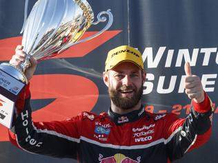 Supplied Unknown Supercars drivers Shane van Gisbergen wins race 2 of the Winton SuperSprint. Images 2 of 2