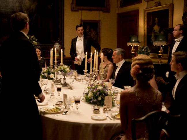 Table etiquette and place settings were very important in the Downton Abbey era.