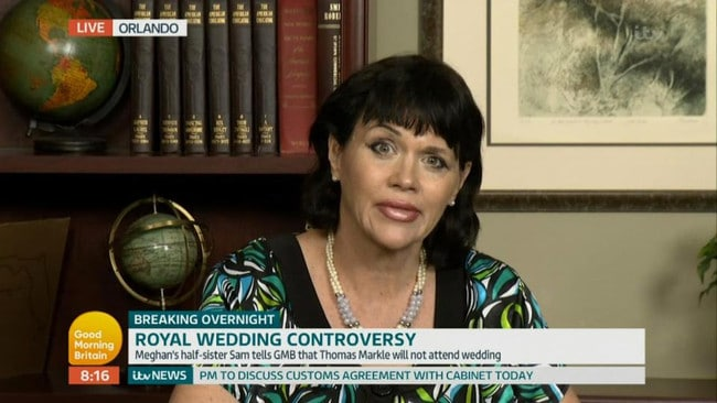 Samantha Markle has been critical of Meghan in multiple media appearances. Picture: ITV