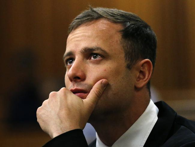 Awaiting his fate ... Oscar Pistorius attends the fourth day of sentencing proceedings in the high court in Pretoria, South Africa. Picture: AP