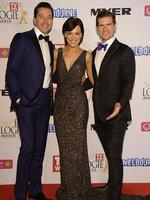 James Mathison, Natarsha Belling and Sam Mac of Wake Up during the Red Carpet Arrivals ahead of the 56th TV Week Logie Awards 2014 held at Crown Casino on Sunday, April 27, 2014 in Melbourne, Australia. Picture: Jason Edwards