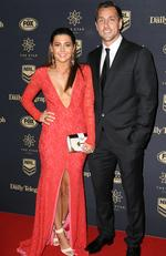 Mitchell Pearce and Zoe Grant at the 2017 Dally M Awards held at The Star in Pyrmont. Picture: Christian Gilles