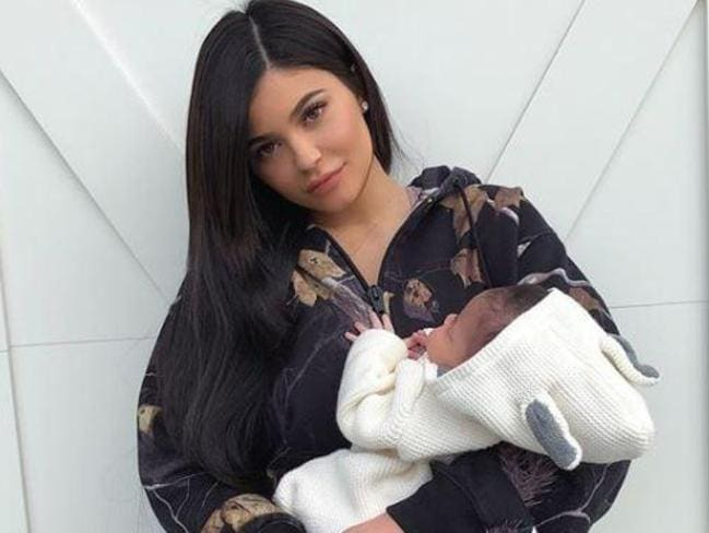Kylie Jenner with her baby girl Stormi. Picture: Instagram