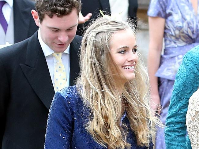 """Too needy"" ... Cressida Bonas leaves after attending a society wedding in June. Picture: AP"