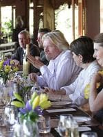 Sir Richard Branson at Makepeace Island, his holiday island on the Sunshine Coast.