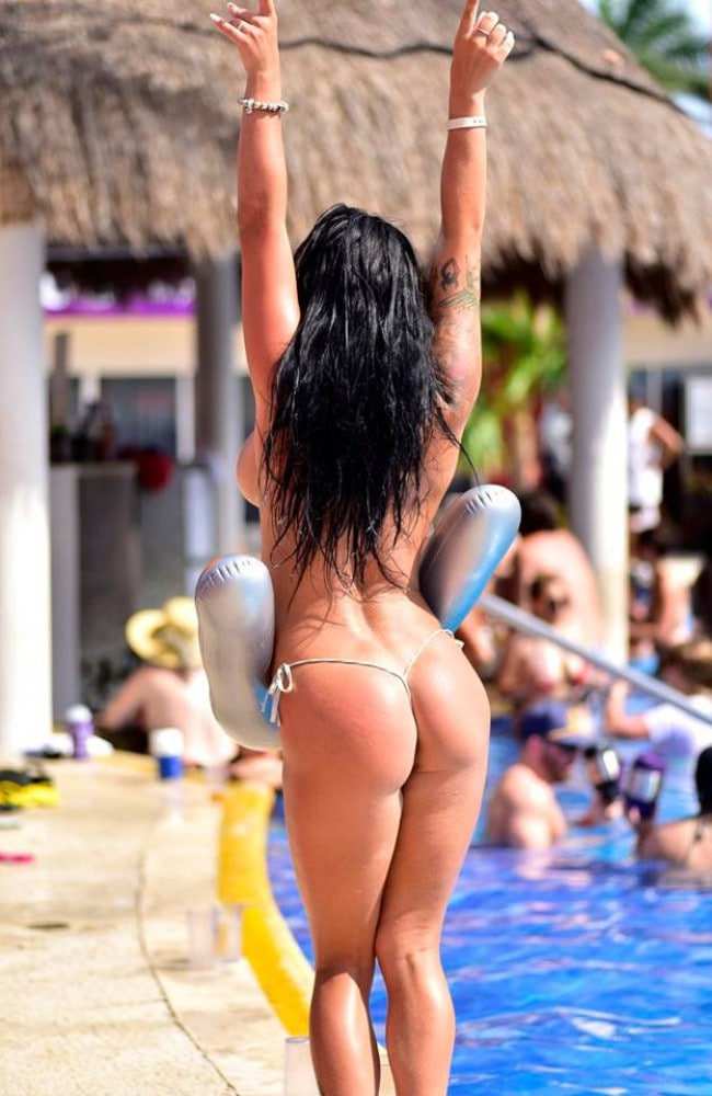 Guests let loose at the hotel. Picture: Temptation Island