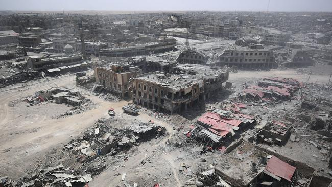 The scale of the destruction is astonishing. Picture: AFP