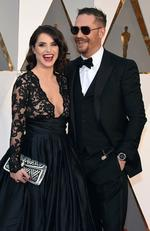 Charlotte Riley and Tom Hardy attend the 88th Annual Academy Awards on February 28, 2016 in Hollywood, California. Picture: AP
