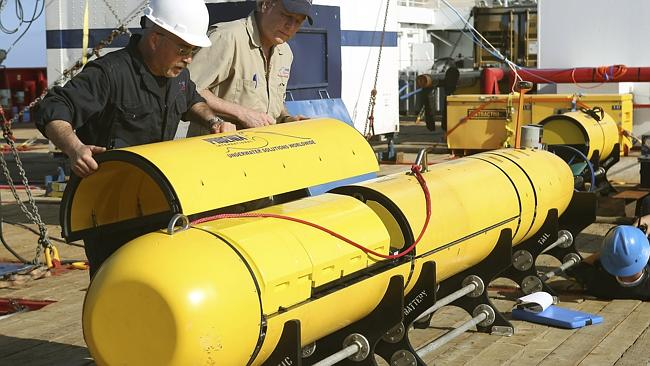 On a mission ... the Bluefin-21 remote underwater vehicle is deployed from the vessel Oce
