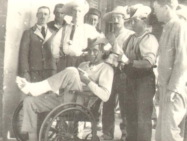 Walking wounded ... 58,000 Anzacs from the Gallipoli campaign were taken to Malta for treatment. Picture: Courtesy of Malta's Heritage.