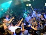 <p>Schoolies enjoy themselves at Cheeky Monkeys nightclub at Byron Bay.</p>