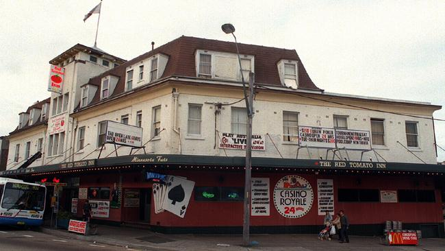 Missing dancer Revelle Balmain last client Gavin Samer said he dropped her off at the Red Tomato Inn (above) in Kingsford in November 1994.