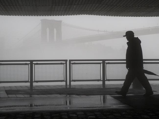 Australians living in New York have to learn how to deal with the brutally cold weather. Picture: Mary Altaffer / AP