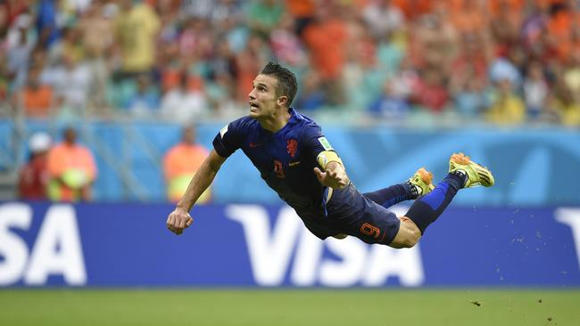 Netherlands' forward Robin van Persie got things rolling.