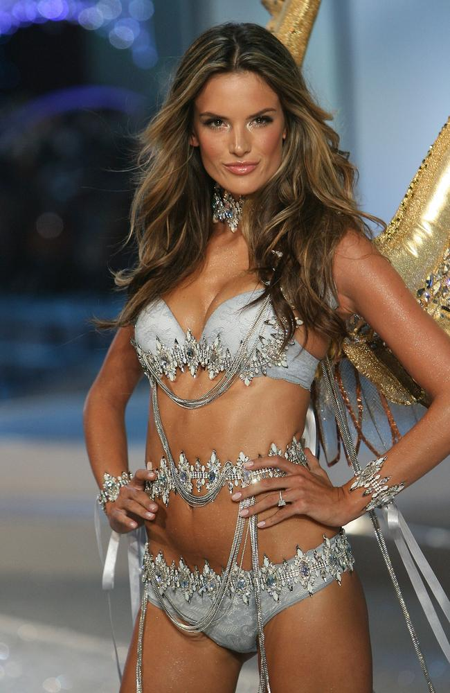 Number one...Brazilian model Alessandra Ambrosio walks the runaway during the 2008 Victoria's Secret Fashion Show in Florida.