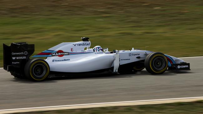 Wolff aboard the 2014 Williams F1 car.