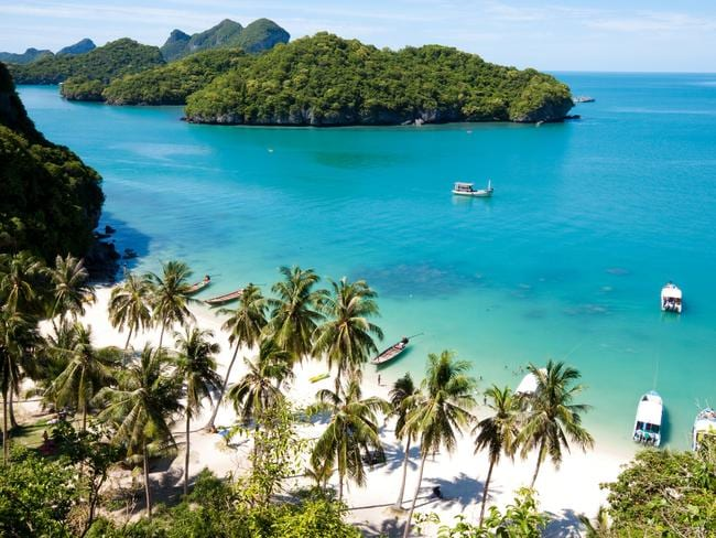 ESCAPE: Thailand, Cover Story, November 26 - Sunny beach on AngThong National Park in Koh Samui, Thailand. Picture: Istock