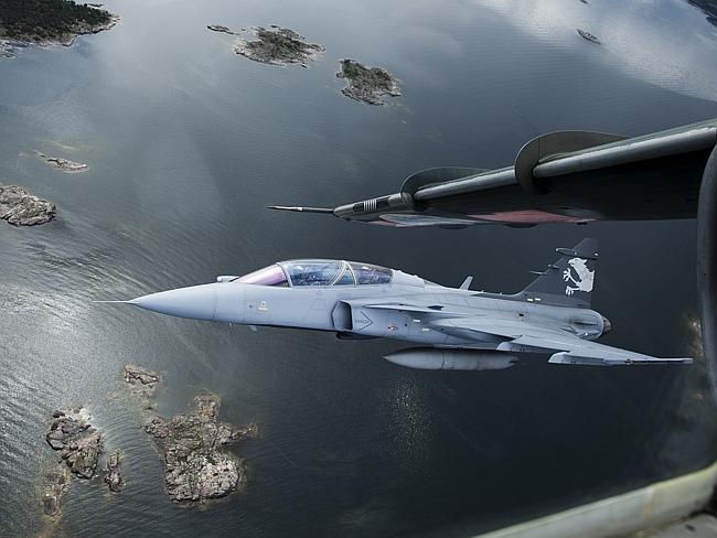 Fighting power ... the Saab Gripen is in service with Sweden, Thailand and Brazil and wil