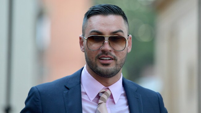 Salim Mehajer leaves court in Sydney, Thursday, June 29, 2017. Sydney property developer Salim Mehajer says he had lost trust in the director of two of his companies before administrators were appointed. (AAP Image/Brendan Esposito) NO ARCHIVING