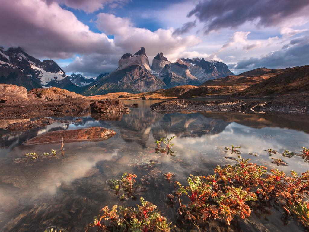 """The 'Cuernos del Paine' mountain range reflected over the glacial waters of lake Nordenskj in 'Torres del Paine' National Park."" Picture: Adriano Neves, Portugual, Shortlist, Open Competition, Travel, 2016 Sony World Photography Awards"