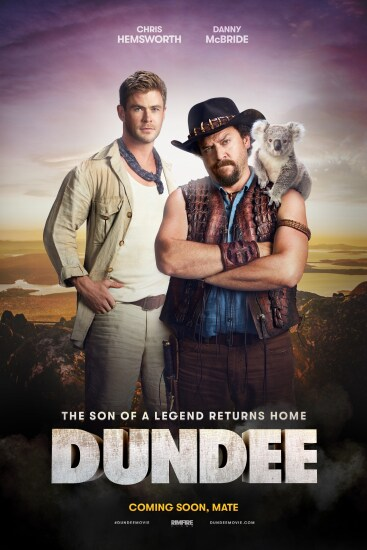 Supplied images from the Tourism Australia Advert with Chris Hemsworth and US Comedy Actor Danny McBride. The advert was shown during the Superbowl on US Television