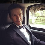 "Mark Wahlberg ... ""Running late to the #goldenglobes"" Picture: Instagram"
