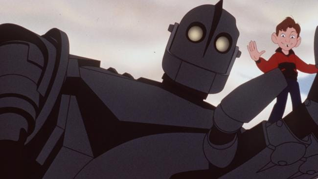 Jennifer Aniston and Harry Connick Jr. are two of the big name stars in The Iron Giant.