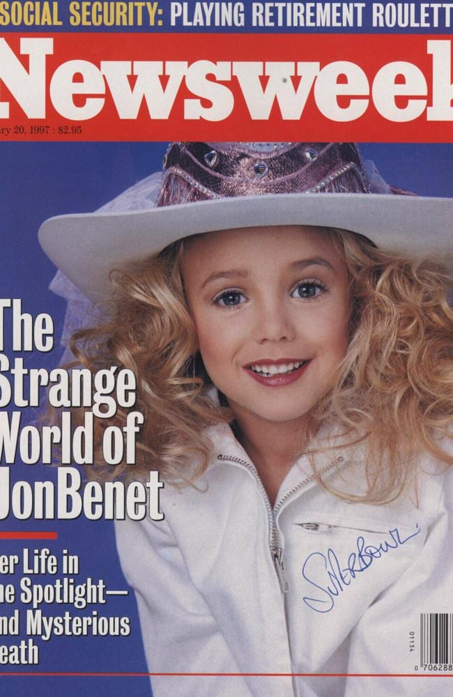 Mystery ... no-one has ever been charged with the murder of JonBenet Ramsey. Picture: Supplied