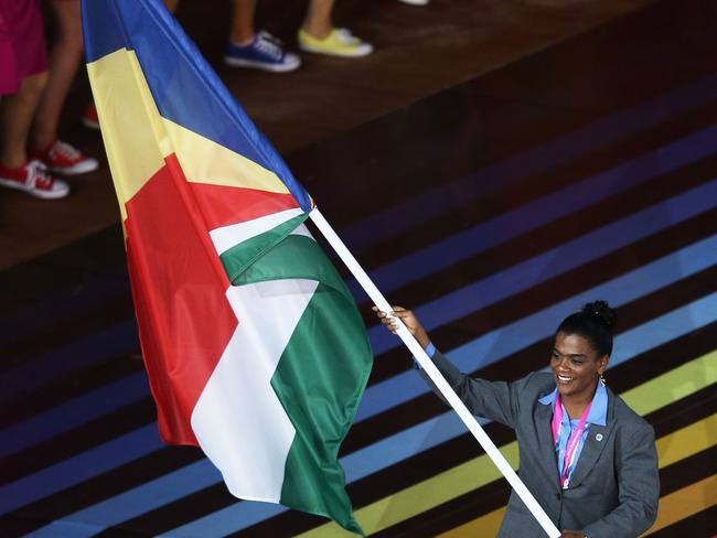 Ah, it's so much fun beating up on global sporting superpowers like the Seychelles. (Photo by Hannah Peters/Getty Images)