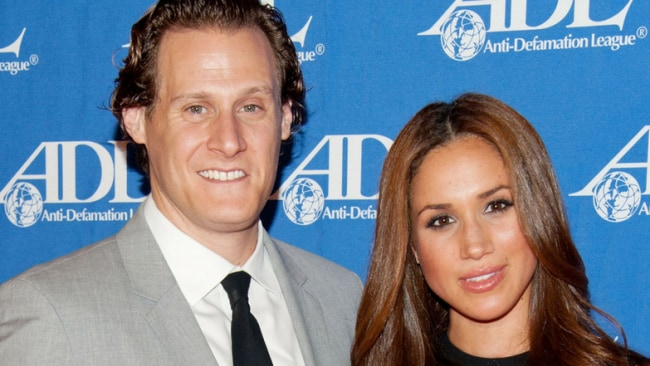 Meghan Markle with her ex husband, Trevor Engelson Photo: Getty