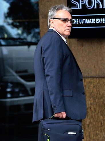 Michael Cranston, ATO deputy commissioner arrives at the front of Central Local Court on Thursday. Picture: Jenny Evans