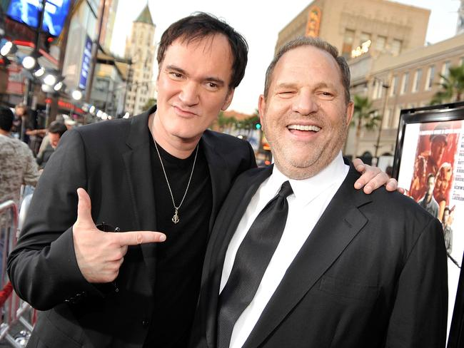 Director Quentin Tarantino has admitted knowing for decades about Harvey Weinstein's alleged sexual misconduct and said he is ashamed he did not stop working with the mogul. Picture: AFP