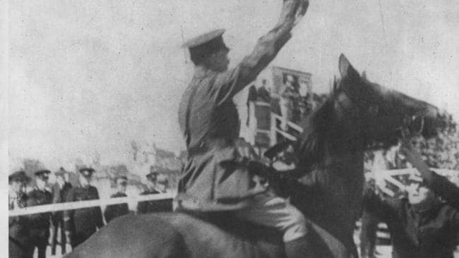 Captain Francis De Groot, member of the New Guard, who rode up and cut the ribbon to open the Sydney Harbour Bridge before the official opening could take place.