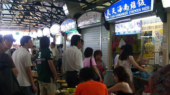 Queueing for Tian Tian Hainanese chicken rice at Singapore's Maxwell Food Centre is worth it, considered Singapore's best dish. Picture: avlxyz/Flickr.