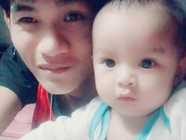 The father pictured with his baby daughter whom he murdered on Facebook Live. Picture: T News Via Viral Press