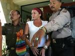 2005 - Police and Prosecutor escorted Schapelle Corby to Sanglah Hospital in Bali for medical check up. Picture: Nyoman Budiana
