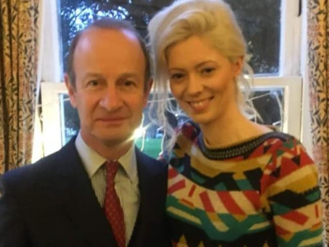 Ousted UKIP leader Henry Bolton left his wife for model Jo Marney. Picture: Supplied