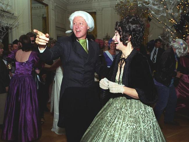 Bill and Hillary Clinton at a Halloween/birthday party in 1993. Source: William J. Clinton Presidential Library Facebook.