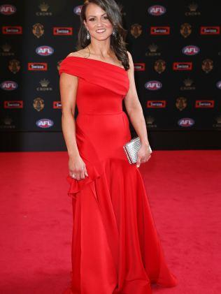 Melbourne Football Club AWFL player, Daisy Pearce, in the colour of the night. Image: Michael Klein
