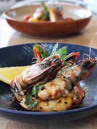 Tapavino's pan-fried prawns. Picture: Lindsey Hoad