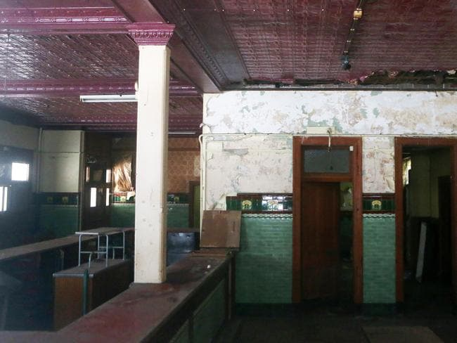 Inside the Terminus Hotel, 'the pub that time forgot'.